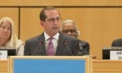 Secretary of Health and Human Services Alex Azar delivers remarks at the WHA 2018 in Geneva